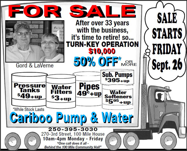 Cariboo Pump & Water, 100 Mile House, BC